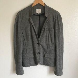 NWOT LOFT Heather Gray 100% Cotton Blazer Jacket